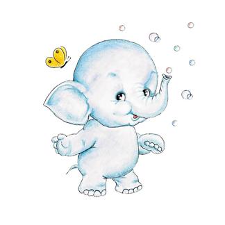 Постер Слон и мыльные пузыри