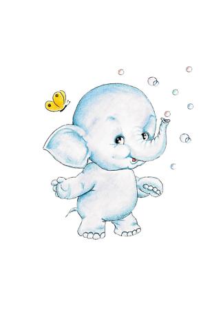 Постер Слон и мыльные пузыри  - фото