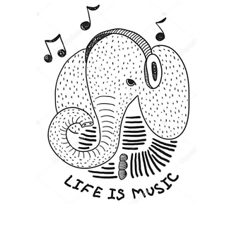 Слон меломан