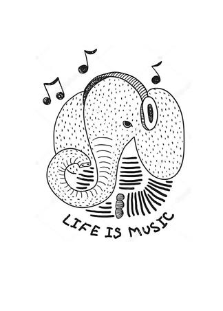 Постер Слон меломан  - фото