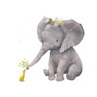 Постер Слоненок и утка