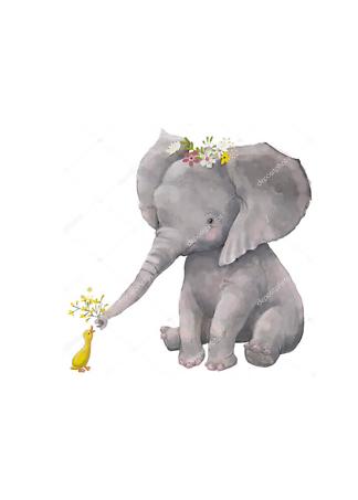Постер Слоненок и утка  - фото