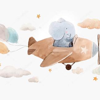 Слоненок на самолете