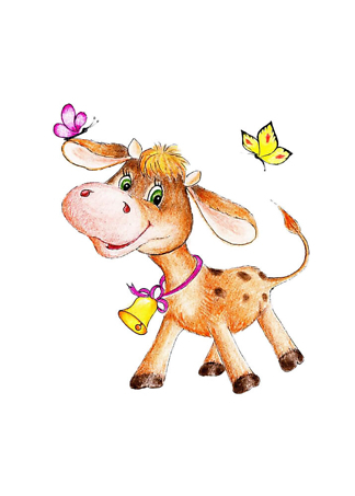 Постер Смешная корова  - фото