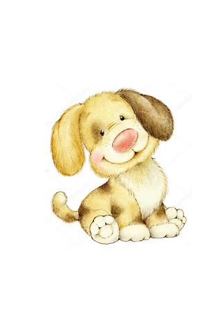 Постер Смешной щенок  - фото