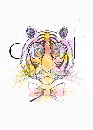 Постер Тигр в очках COOL  - фото
