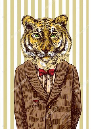 Постер Тигр в пиджаке  - фото
