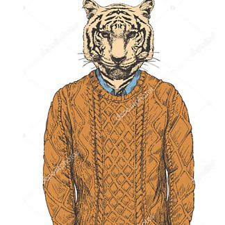 Тигр в свитере
