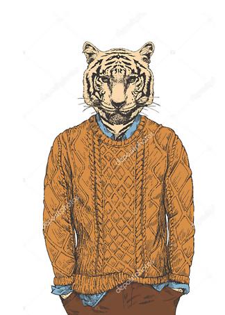 Постер Тигр в свитере  - фото