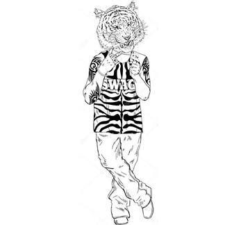 Тигр задира