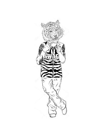 Постер Тигр задира  - фото