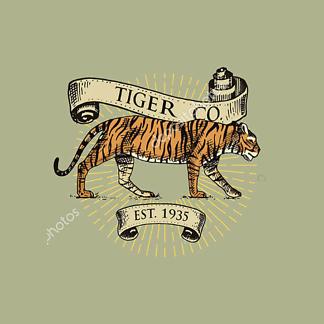 Леопард винтаж