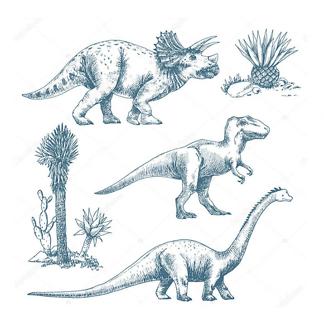 Большой робот-динозавр