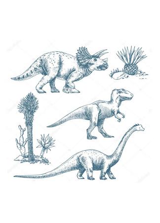 Постер Три динозавра  - фото
