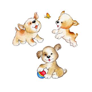 Три милых щенка