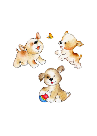 Постер Три милых щенка  - фото
