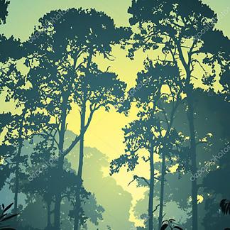 Постер Дино под пальмой