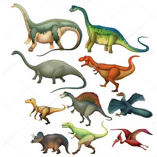 Симпатичные динозавры