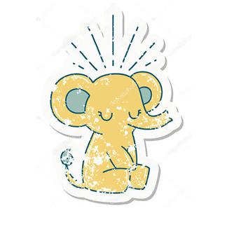 Винтажный слон