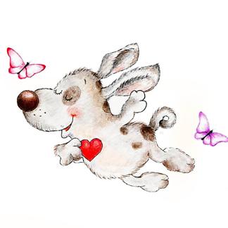 Влюблённый щенок