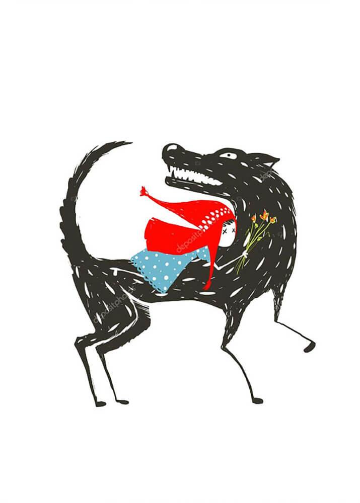 Волк и красная шапочка на стену - купить по цене от 830р ...