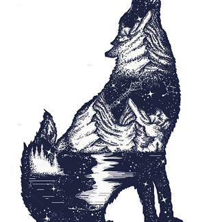 Постер Голова волка
