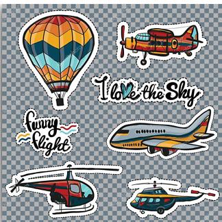 Постер Ретро самолет