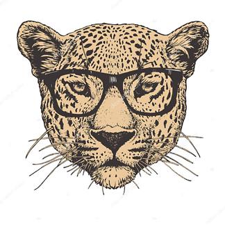 Девушка играет с ягуаром