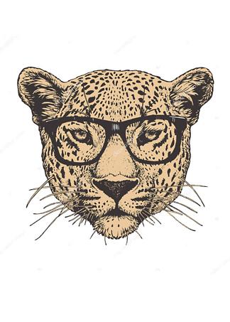 Постер Ягуар в очках  - фото