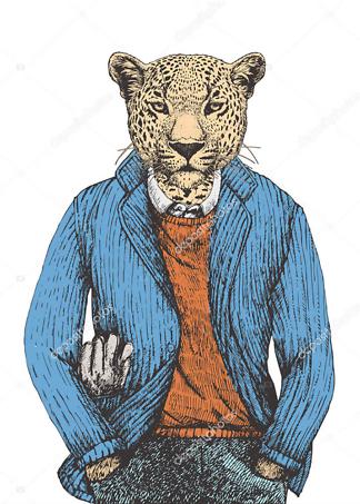 Постер Ягуар в пиджаке  - фото