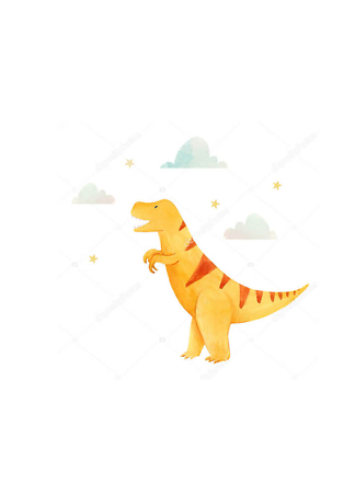 Постер Желтый динозавр  - фото