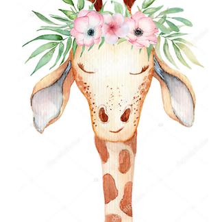 Постер Жираф и цветы