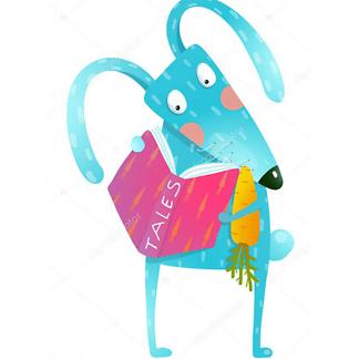 Постер Заяц с книгой