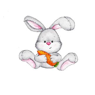 Постер Заяц с морковкой