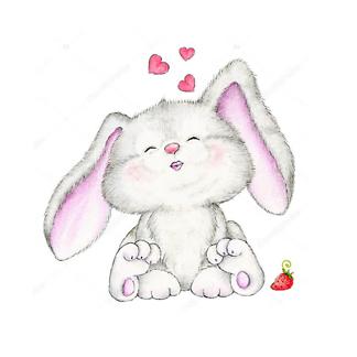 Заяц с сердечками