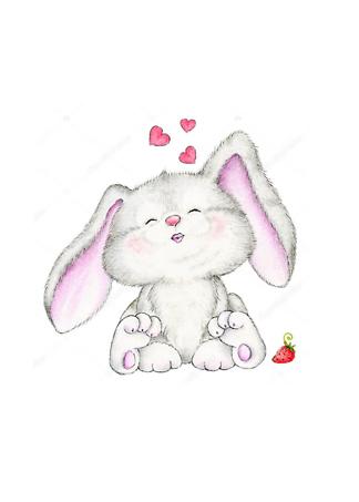 Постер Заяц с сердечками  - фото