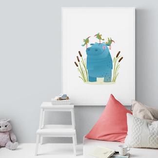 Постер Бегемот в камышах  - фото 2