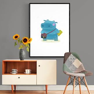Постер Довольный бегемот  - фото 2