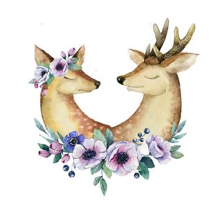 Постер Влюбленные олени
