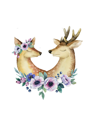 Постер Влюбленные олени  - фото