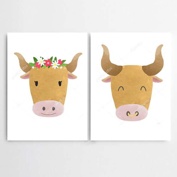 Корова и бык