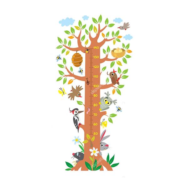 Детский ростомер Дерево  - фото
