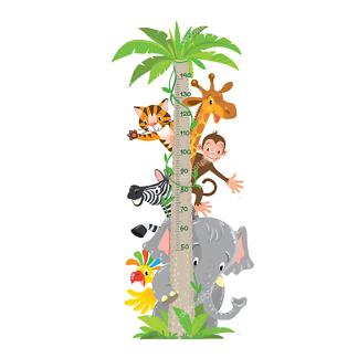 Детский ростомер Жираф, обезьяна, тигр