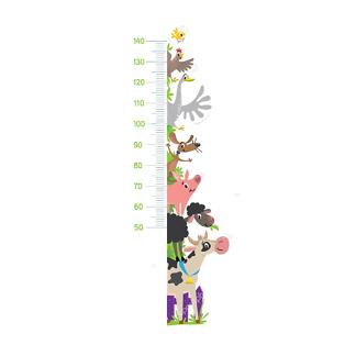 Детский ростомер Животные с фермы-2  - фото