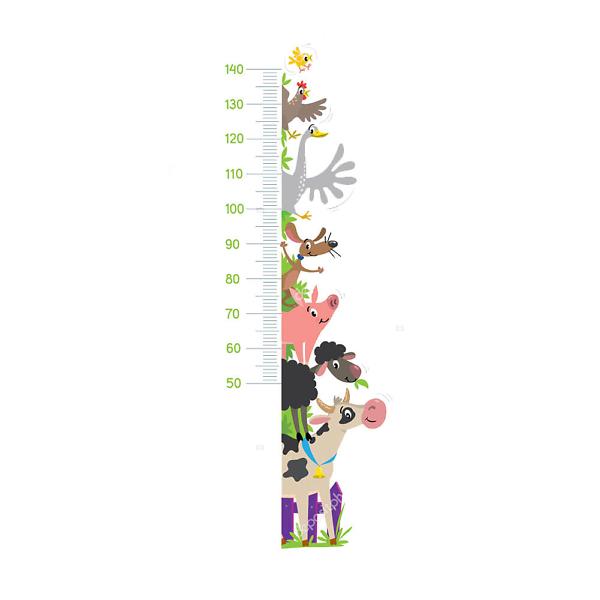 Детский ростомер Животные с фермы-2