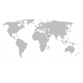 Наклейка на стену карта Серая