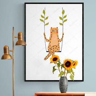 Леопард на качелях  - фото 2