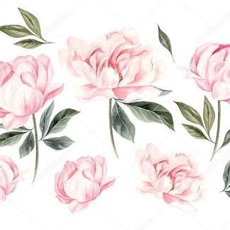 Наклейка цветы Пионы нежные  - фото
