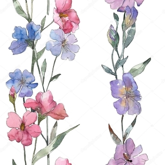 Наклейка цветы Льна  - фото
