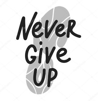 Наклейка Мотиватор — Никогда не сдавайся  - фото